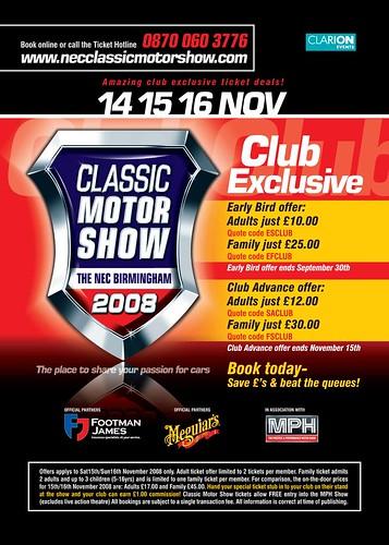 Nec Classic Car Show Ticket Prices