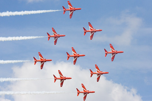Red Arrows Diamond Nine | by Andrew Luyten