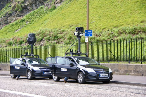 "Two Google ""Street View"" camera cars in Edinburgh 