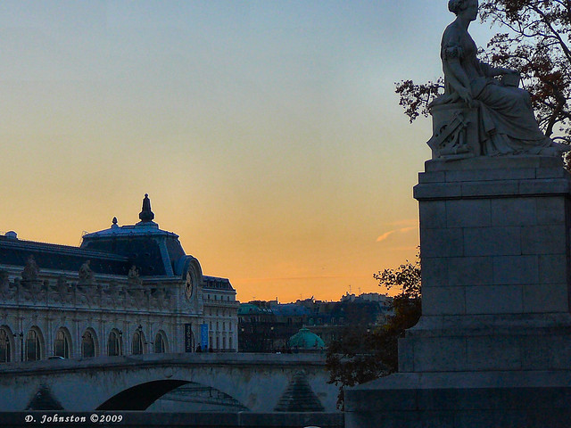 Sunset over Musee d'Orsay