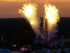 Fireworks at Dusk - Main Street Disney | by joiseyshowaa