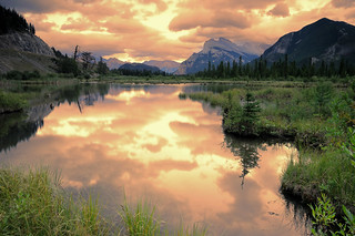 Vermillon Lake and Mount Rundle, Banff National Park | by canbalci
