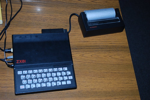 Sinclair ZX81 & thermal printer | by Mr Ush