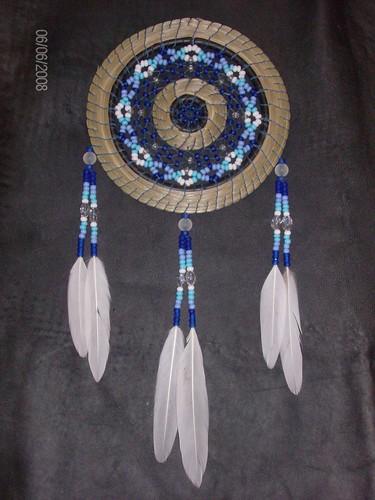Dreamcatcher w sweetgrass dreamcatcher burl for Dreamcatcher weave patterns