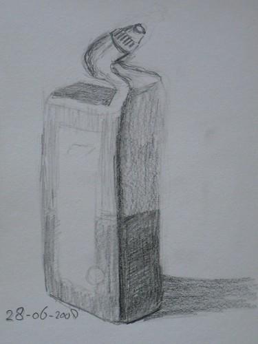 wc eend  Eerste schets van een fles WCEend  René van Belzen  Flickr # Wc Eend Wasbak_031443