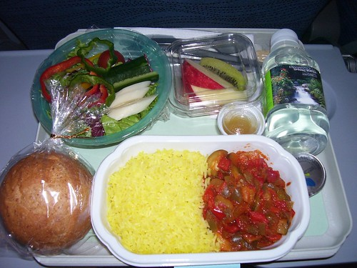 Plane food | by veganbackpacker