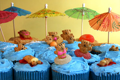 Bikini Beach Bear Cupcakes | by Bakerella