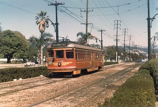 Streetcar on Santa Monica Boulevard at Canon Drive, Beverly Hills | by Metro Transportation Library and Archive