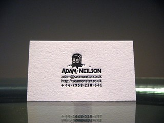 Adam Neilson Letterpress Business Cards | by dolcepress