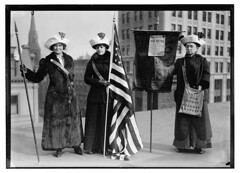 [Suffragettes with flag]  (LOC) | by The Library of Congress