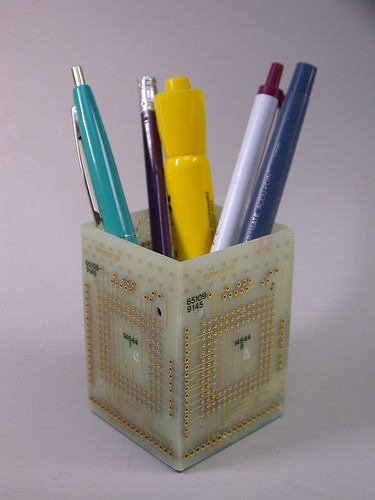 Recycled Circuit Board Pencil Holder Desk Organizer ...