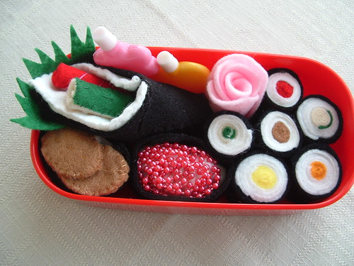 how to make felt sushi