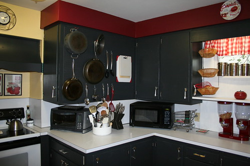 Kitchen Remodel Where The Pegboard Is Now Were Fake Door F Flickr