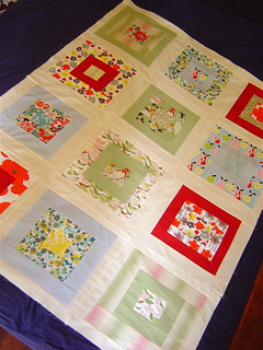 Birds & Blooms Baby Quilt Top | by alissahcarlton