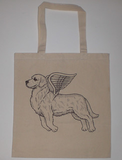 Golden Retriever Canvas Tote Bag | by misnopalesart