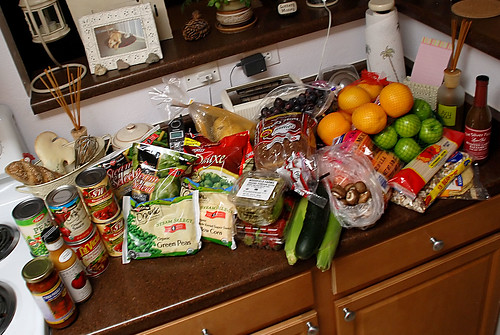 $100 of vegan groceries
