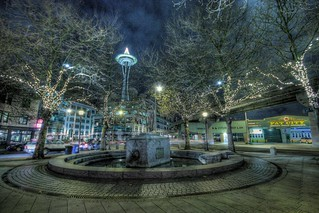 Chief Seattle at Night, HDR | by Ahren D