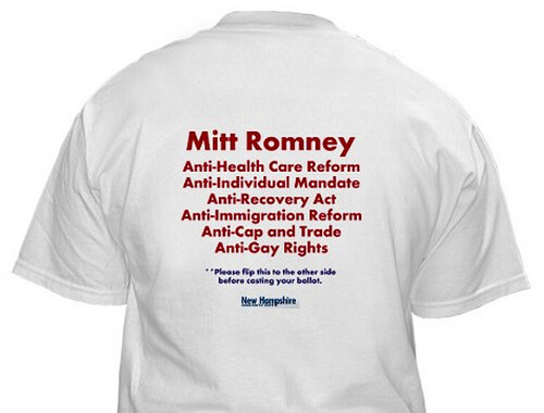 Back of Two Sides of Mitt Romney T-Shirt | by NHDP2011
