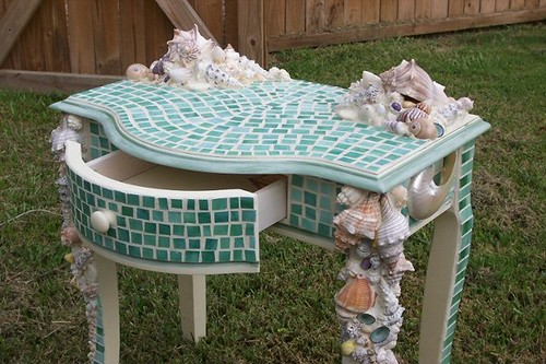 Mosaic Shell Table | by mississippiartist