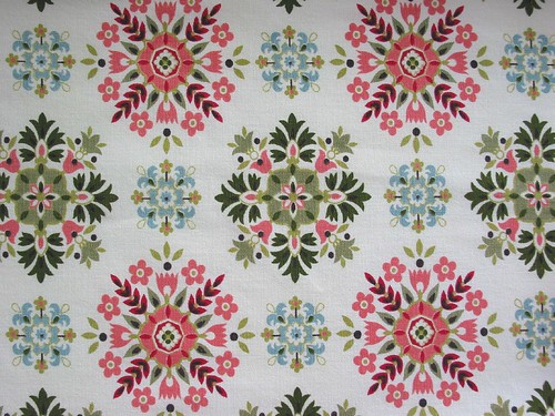 Vintage Fabric ~ 1950's Geometric Snowflakes | by Niesz Vintage Fabric