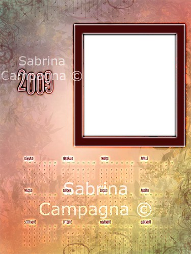 Autumn Photo Calendar Template 2009 | by Sabrina Campagna