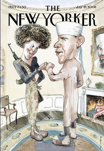 New Yorker cartoon cover w/Obamas | by scriptingnews