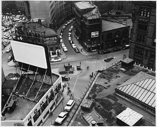 Scollay Square Looking Down From West, From 10th Floor on East Facade of Pemberton Building (20 Pemberton Square) | by MIT-Libraries