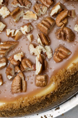 Pecan and Salted Caramel Cheesecake | by bakeorbreak