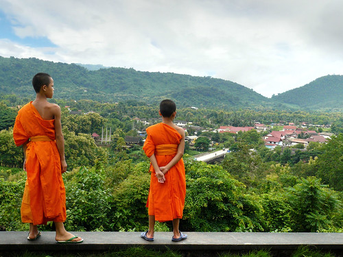 Little monks at Wat Pa Phon Phao | by B℮n