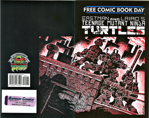 """Teenage Mutant Ninja Turtles"" Volume 1. #1 / 25th anniversary printing { F.C.B.D. } entire wrap-around cover by Kevin Eastman & Peter Laird (( 2009 )) 