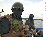 Militants from the Movement for the Emancipation of the Niger Delta (MEND). The Federal Government has launched an offensive against the people of this oil-rich region beginning on May 13, 2009. | by Pan-African News Wire File Photos