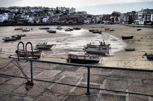 St Ives at low tide