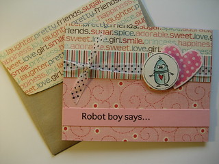 Boy Robot Valentine Card | by Spencerette