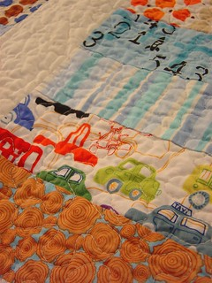 Baby Boy Coin Quilt - Detail | by alissahcarlton