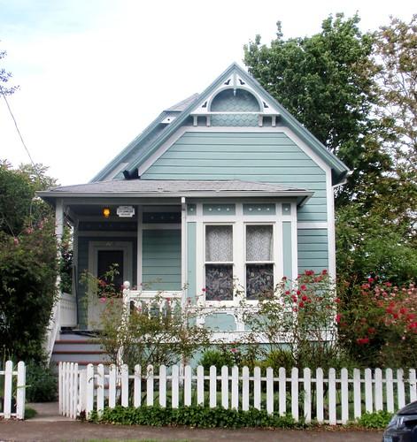 Blue Aqua Victorian Cottage J F Lawler Historic Home