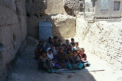 Afghanistan - Girls' School Outside Class-1 | by International Aid