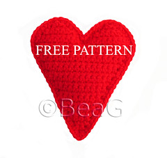 Pattern for Crocheted Heart (Patroon voor Gehaakt Hart) | by Made by BeaG