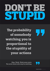 Don't Be Stupid Typographic Poster for Free Download | by The Logo Smith