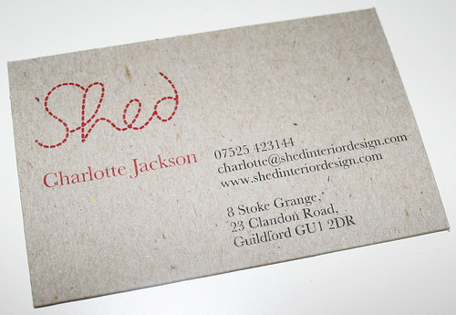 Shed business card (face) | by I am Cheapskate