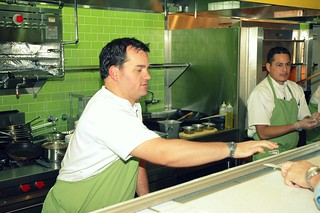 Chef Michael Stebner at work | by www.drweil.com