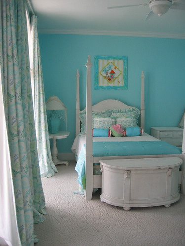 Teen Room Girl Blue Tapestry