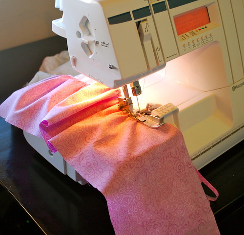 gathering with serger | by Melanie Dramatic