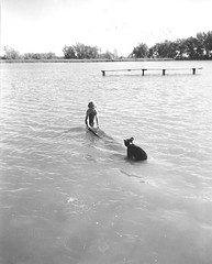 Henderson Lake Park: Girl with Bear Cub | by Galt Museum & Archives on The Commons