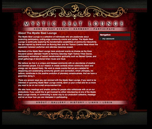 Mystic Beat Lounge Website | by ZDCA Design & Development