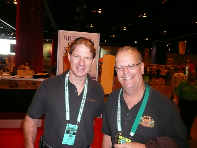 Lester Jones, of the Beer Institute & George Reisch, of Anheuser-Busch @ GABF Saturday