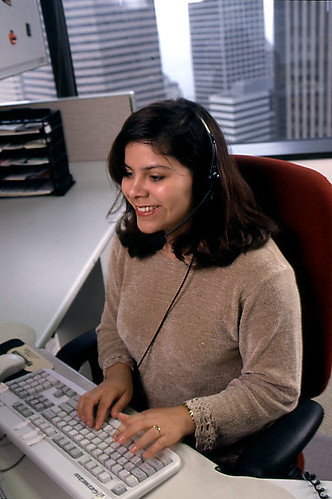 Seattle Public Utilities customer service representative, 2000 | by Seattle Municipal Archives