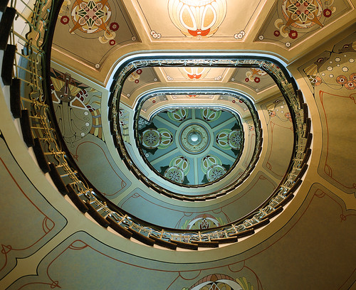 Art Nouveau Museum spiral stair | by liber