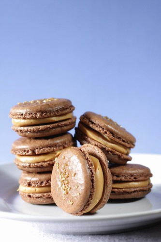 Chocolate and Salted Peanut Butter Macarons | by Madison Bistro