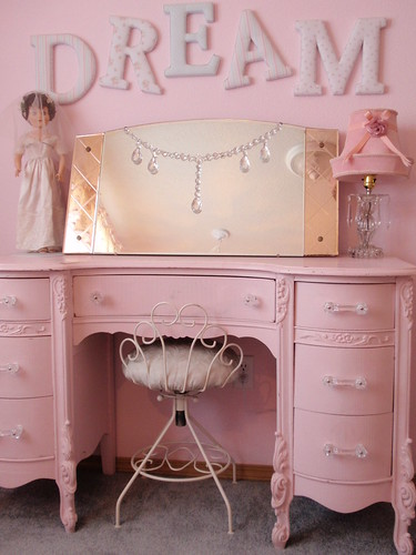 Simply Shabby Chic DREAM letters & pink vanity dresser 2  Flickr