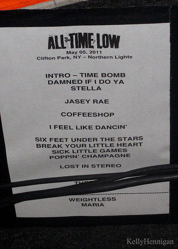 All Time Low Dirty Work Tour Setlist